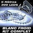 Kit complet Ruban LED Professionnel Flexible - 5 Mètres - 60 LED/M - Couleur Blanc Froid - 3528