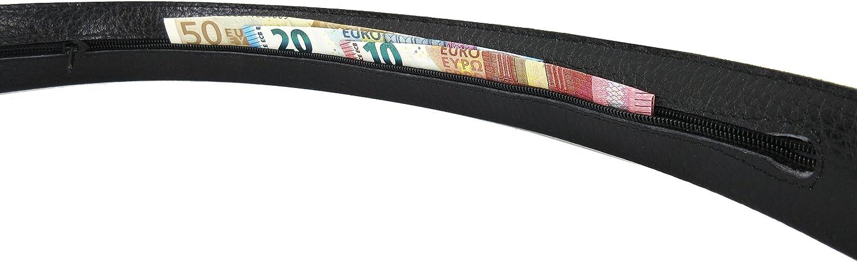 Accessori da Viaggio Cintura da Uomo in vera pelle di alta qualit/à con tasca interna a zip segreta Fatto a mano da artigiani in Spagna Money Travel Belt