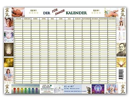 Cumpleaños, para siempre Calendario, diseño Reiki, DIN A3 ...