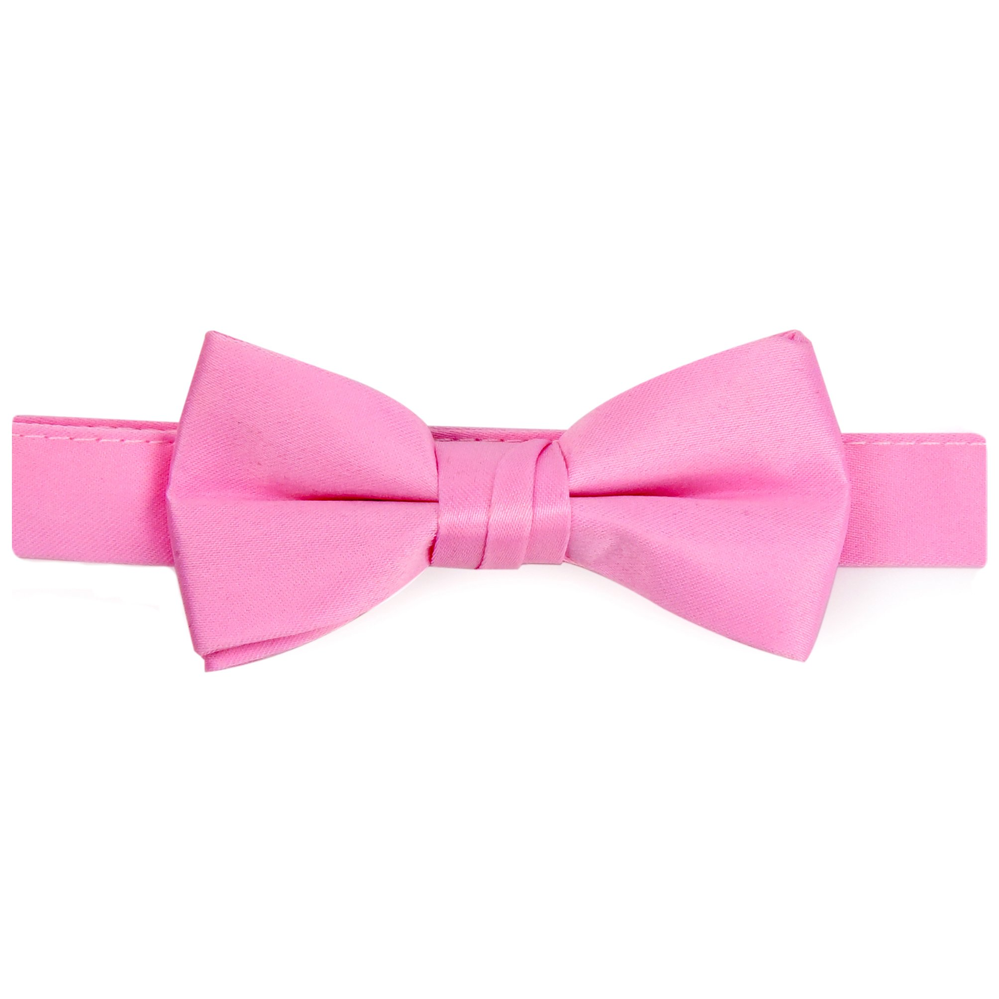 Hold'Em Bow Tie For Mens Boys and Baby Satin look Solid Color Adjustable Pre-tied Made in USA - Kids Light Pink