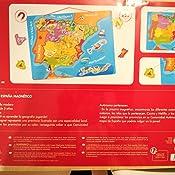 Janod - Puzzle magnético Mapa de España en madera, 50 piezas magnéticas, 40 x 30 cm, Juego educativo a partir de 5 años, J05527: Amazon.es: Juguetes y juegos