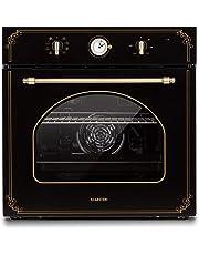 Klarstein Victoria Horno de cocina • Horno eléctrico • Diseño retro • 9 funciones • Autoapagado • 50-250°C • 70 litros • 10 alturas • Fácil de limpiar gracias a su apertura • Iluminación • Negro