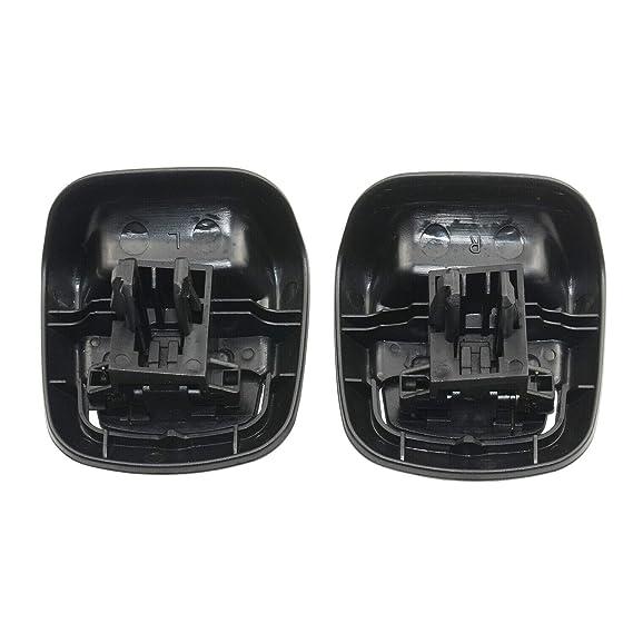 colore: Nero Maniglia inclinabile anteriore sinistra e destra in plastica Sourcingmap 1417520//1417521