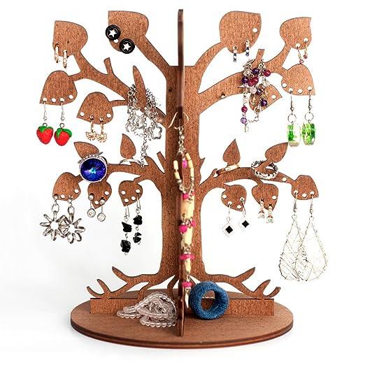 54 opinioni per Porta bigiotteria in legno a forma d'albero / Per i tuoi orecchini / Per i tuoi