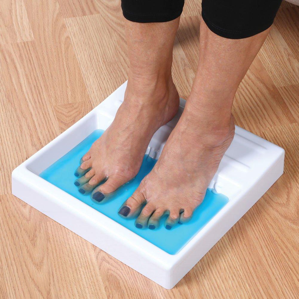 Toe and Nail Antifungal Shallow Foot Soaking Tray with 2 oz. Funga Soap Set