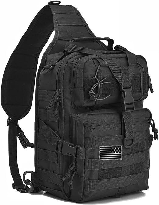 Tactical Sling Bag Pack Small Molle Assault Military Army Shoulder Backpack Men