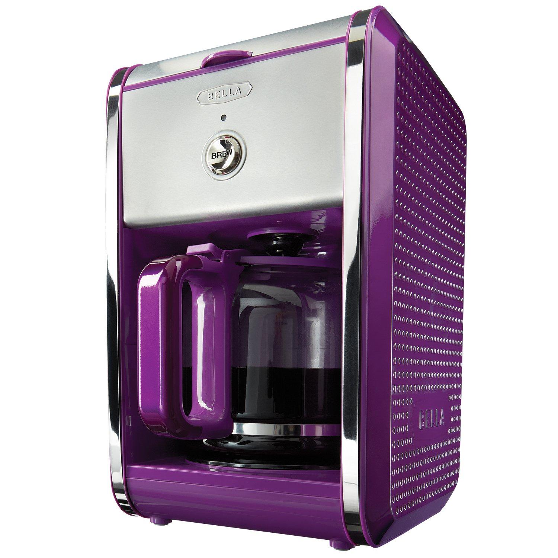 Amazon.com: Colección Bella Dots 12-cup cafetera, Púrpura ...