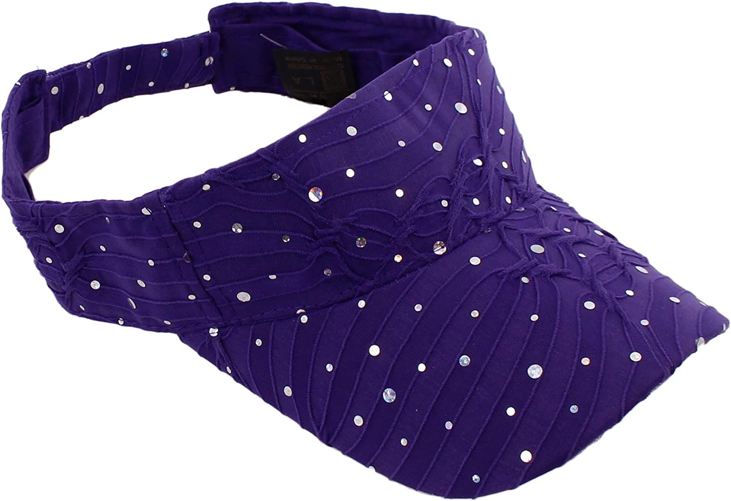 Greatlookz Fashion Glitter Sequin Visor with Flowers for Ladies