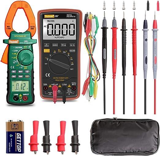 Digital Voltmeter Volt Meter Ohm Meter Test Meter ALLIGATOR lead Clips DC AC