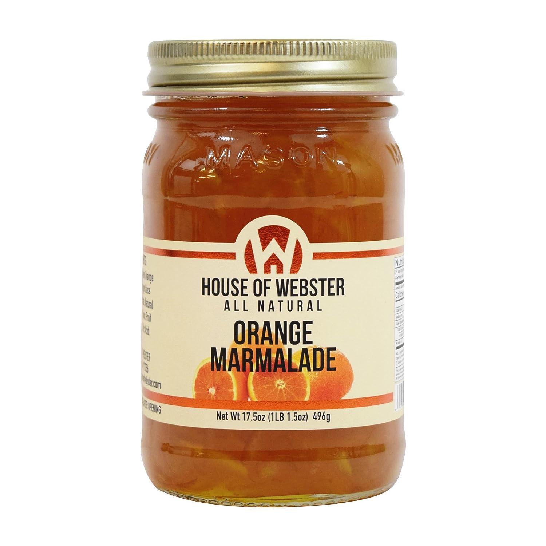 House of Webster All Natural Sweet Orange Marmalade 17.5 oz