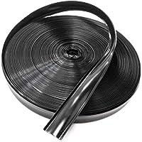 """QPN Black Vinyl 7/8"""" Insert Molding Trim Screw Cover RV Camper Travel Trailer (35 ft, Black)"""
