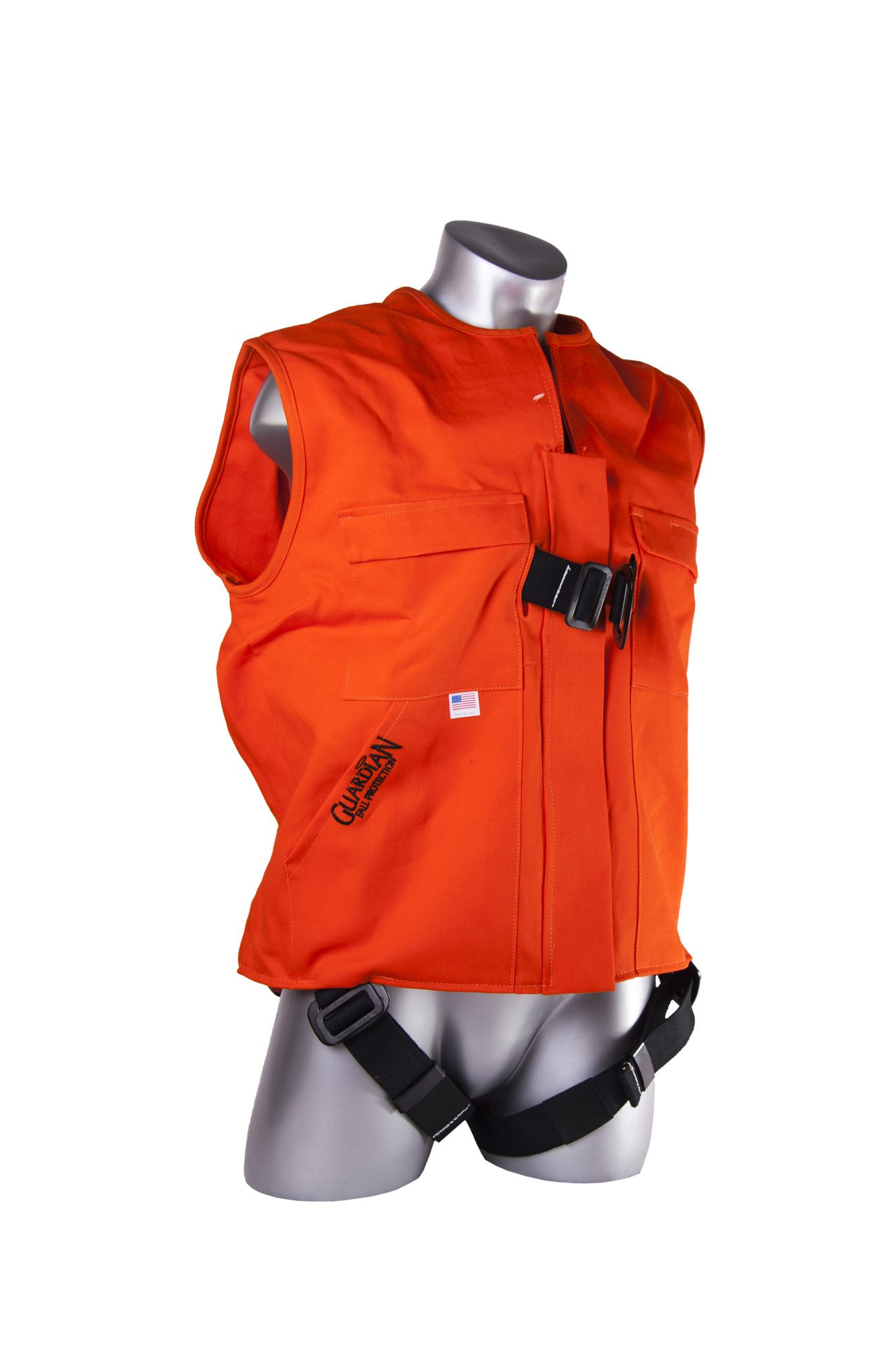 Guardian Fall Protection 02520 Fire Retardant Construction Tux Harness, Large