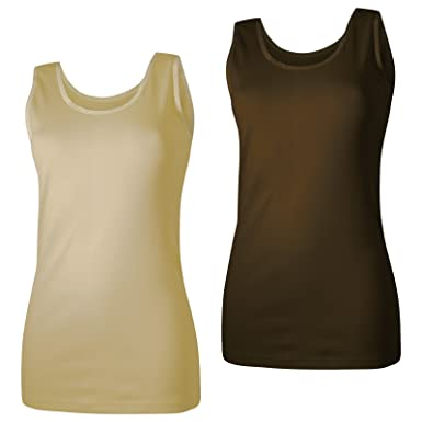 info for 24e54 86dca Lavazio 2 Damen Unterhemden Feinripp supergekämmte Baumwolle in tollen  Farben