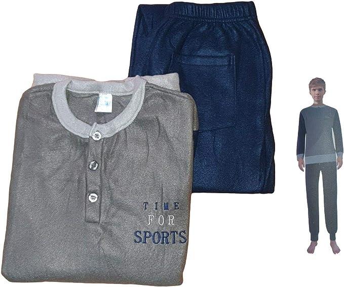 DEMONA Pigiama da Donna 100/% Caldo Cotone Interlock E Pile Maglia E Pantalone Invernale Offerta SPEDIZIONE Gratuita