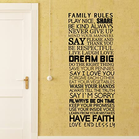 Family Rules Share, Live, Laugh, Love, Be Kind Always¡House Rules ...