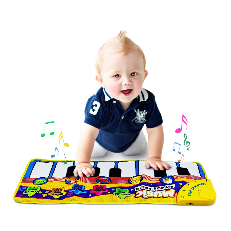 Alfombra de piano, alfombra de música Touch Play Alfombra de teclado para bebé Niño gracioso Play Blanket Alfombra de juguete musical Great Great Toy Gift ...
