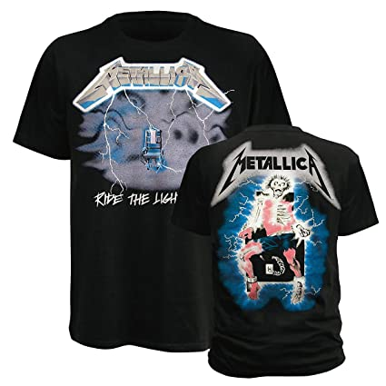 Bravado Metallica – Ride The Lightning – Camiseta para Hombre, Color Negro Negro Negro 46