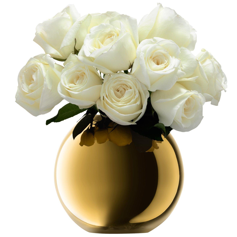 LSA (エルエスエー) G1161-16-358 POLKA(ポルカ) フラワーベース (花器) ゴールド 高さ16cm B00VA4IYFS  ゴールド