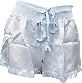 product image for PJ Harlow Women's Mikel Satin Boxer Short with Draw String - PJSB5 (Large, Pale Blue)