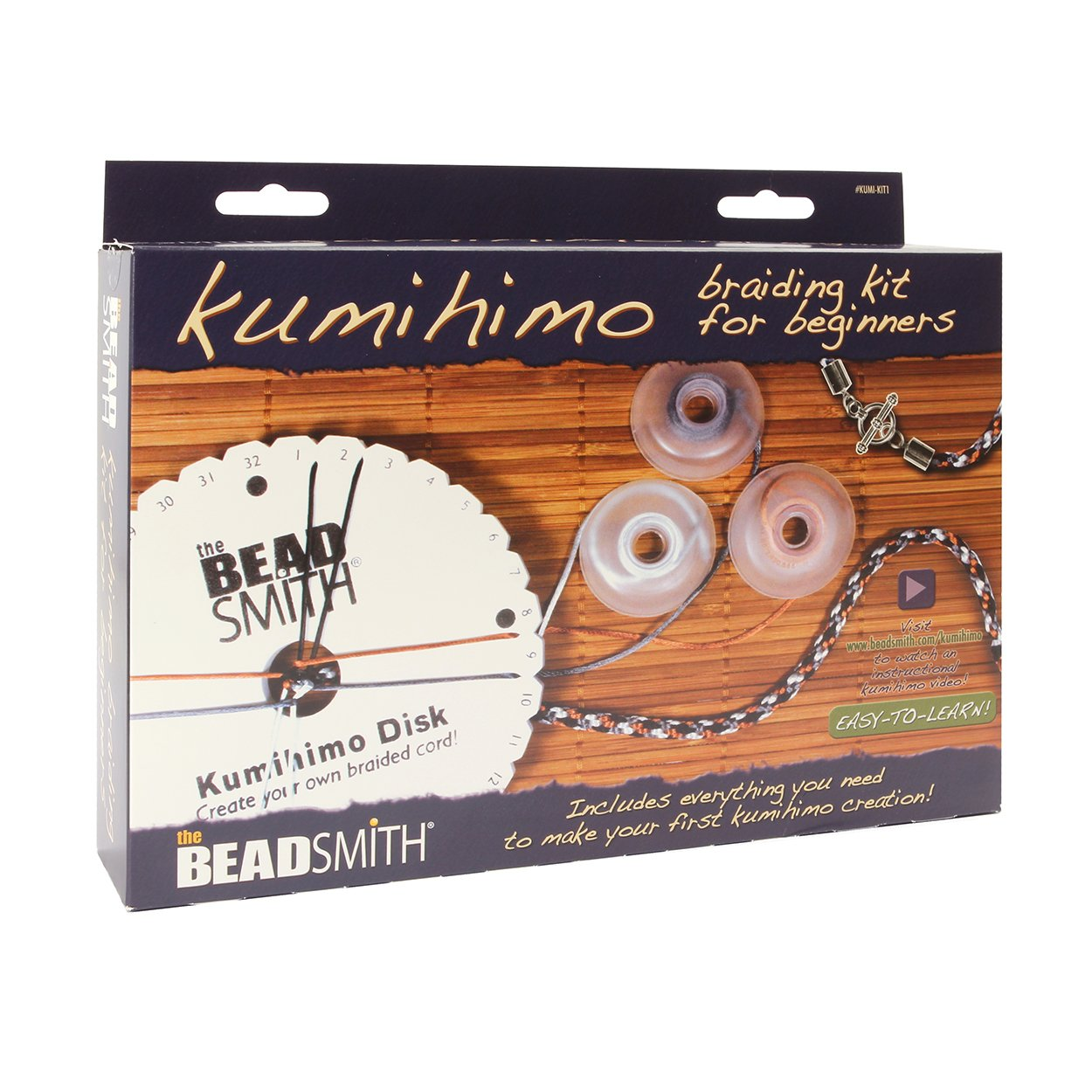Beadsmith Kumihimo Starter Kit, Other, Multi, 25 x 19 x 5 cm 5060525970542