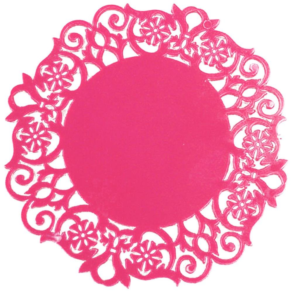 Clearance Sale!DEESEE(TM)Lace Flower Doilies Silicone Coaster Tea Cup Mats Pad Insulation Placemat LAU (F)
