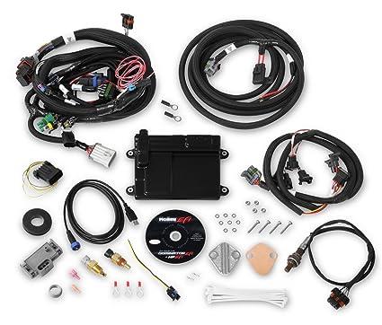 Amazon.com: Holley EFI 550-606N HP EFI ECU And Harness Kit Universal on efi throttle body, efi coil harness, efi fuel pressure regulator, efi fuel rail, efi engine,