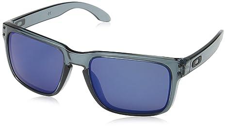 Oakley - Gafas de sol Holbrook, montura negra translúcida, color de la lente esmeralda
