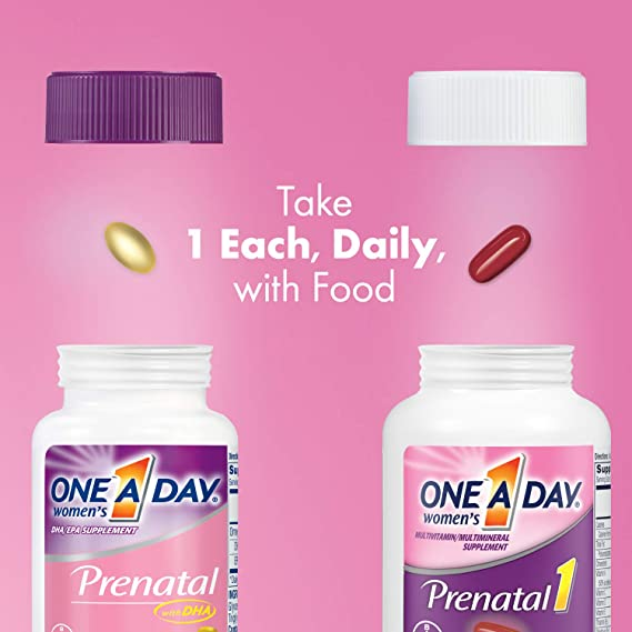 One A Day Womens Prenatal Vitamins, 30+30 Count by One-A-Day: Amazon.es: Salud y cuidado personal
