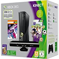 Xbox 360 - 250 GB, Incluye Sensor Kinect, Adventure, Kinect Sports, Dance Central 2 Y Un Mes De Live