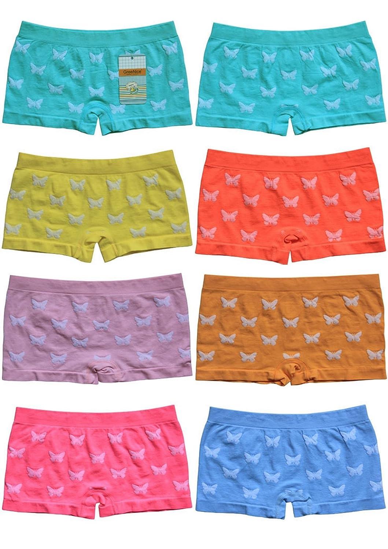 12 Stück Mädchen Pantys Hipster Shorts Boxershorts Girls Unterhosen Kids Unterwäsche Mikrofaser bunt 92 bis 158 - BestSale247