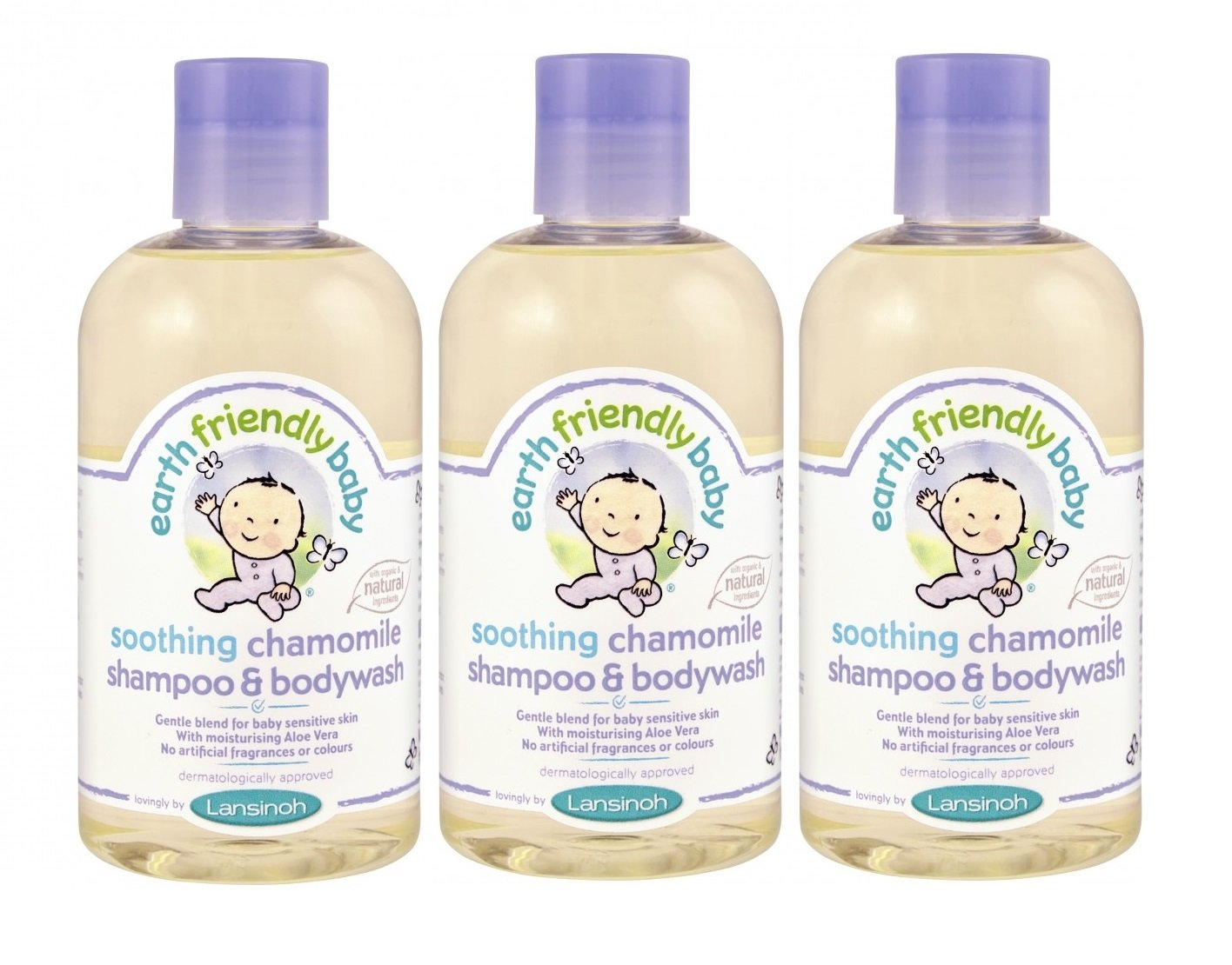 Earth Friendly Soothing Chamomile Shampoo & Body Wash 250ml (PACK OF 3) Earth Friendly Baby