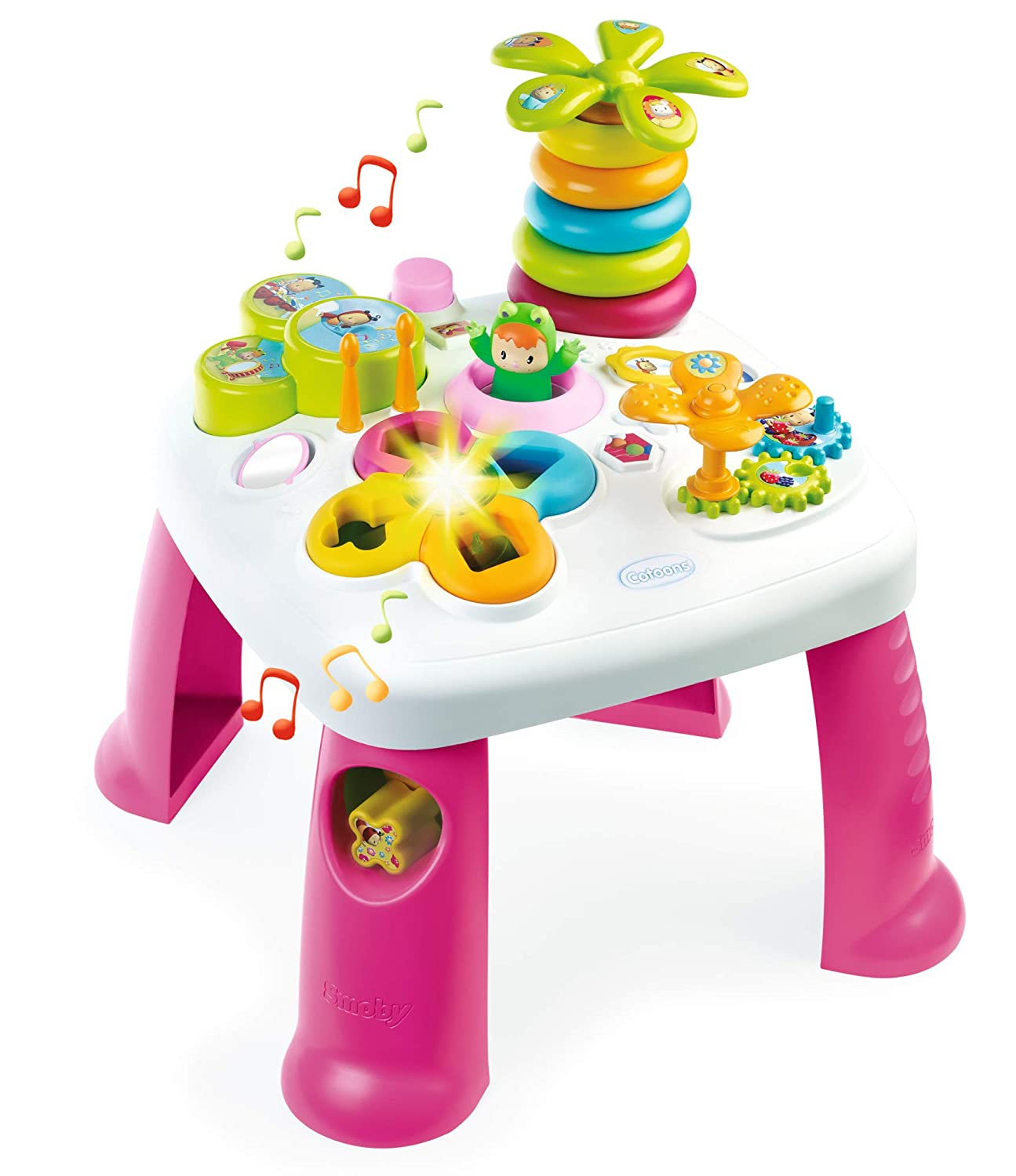 Smoby 211170 Cotoons Activity Table Pink Amazon Co Uk Toys Games