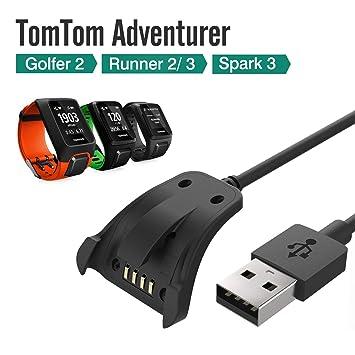 LUXACURY Tomtom Spark/Spark 3 Runner 2 3/Adventurer - Cable USB de Carga