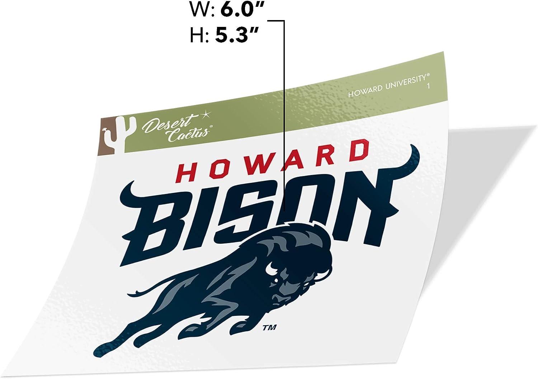 Sticker - 1 Howard University Lady Bison NCAA Vinyl Decal Laptop Water Bottle Car Scrapbook