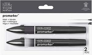 Winsor & Newton Promarker, Set of 2, Black and Blender