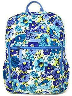 Vera Bradley Campus Backpack with Solid Color Interior (Updated Version)  (Blueberry Blooms with 65e4146722409