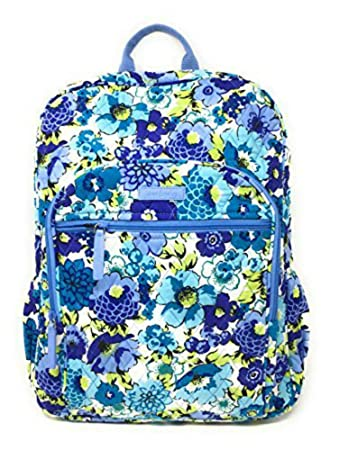Vera Bradley Campus Backpack with Solid Color Interior (Updated Version)  (Blueberry Blooms with 341b87bc492d2