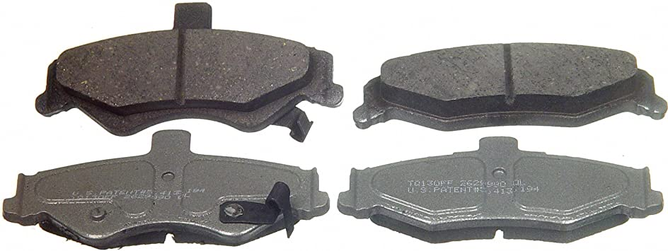 Front Wagner ThermoQuiet MX749 Semi-Metallic Disc Pad Set With Installation Hardware