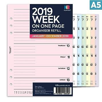 NBplanner® 2019 - Planificador semanal de una página Filofax ...