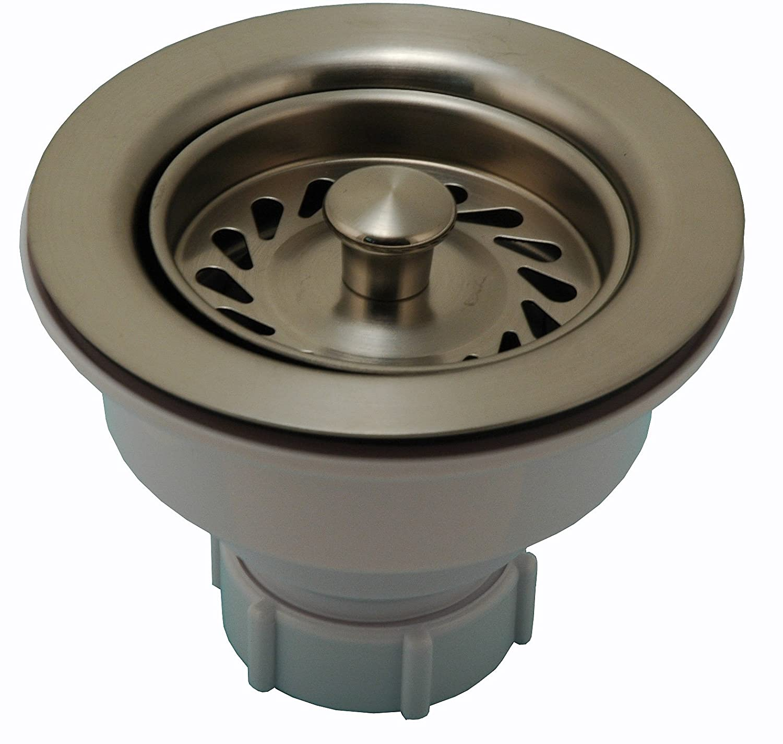 Kitchen Sink Strainer Double Cup Basket Strainer Satin Nickel