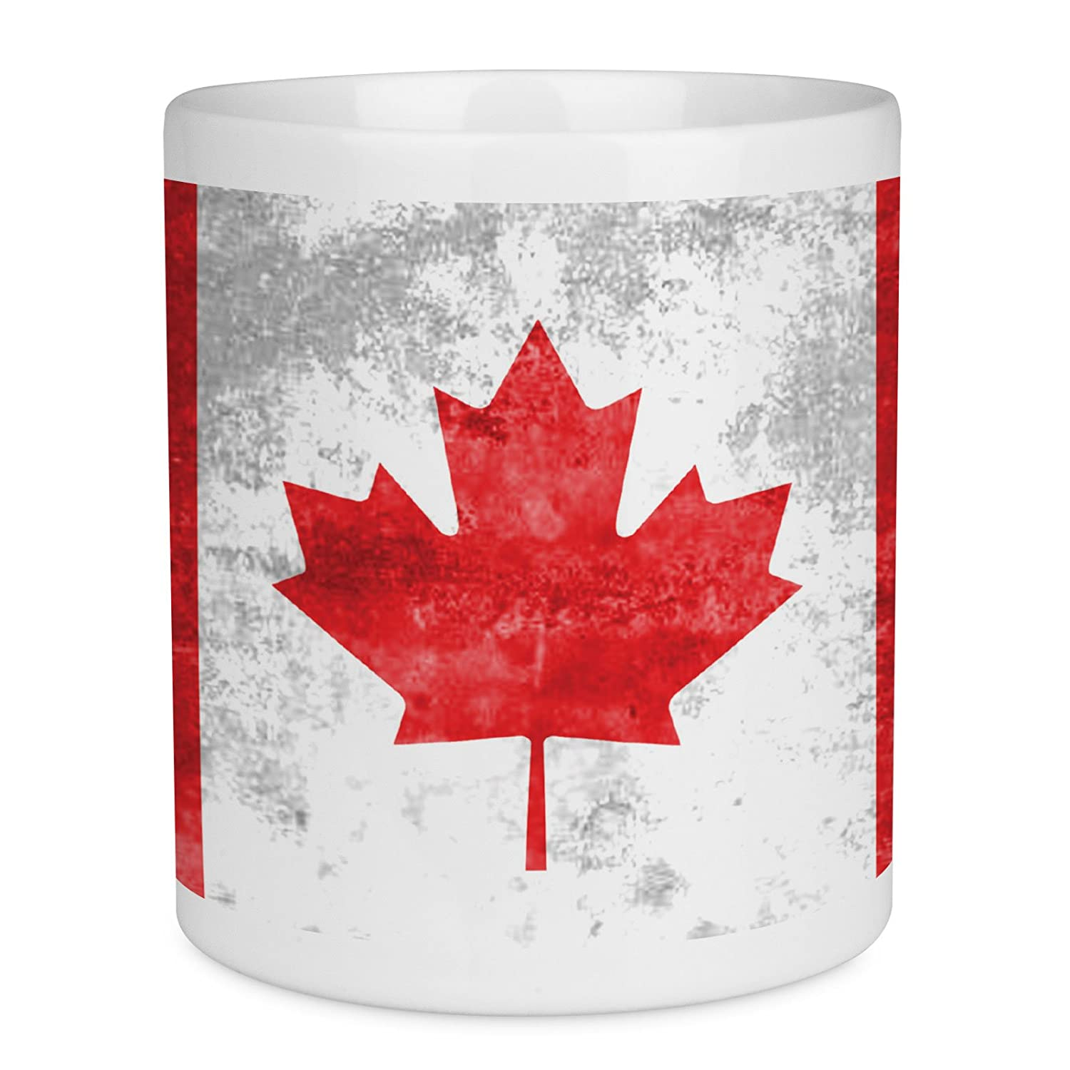 Made in England Vintage Tall CANADA Red Maple Leaf Pattern Coffee Mug