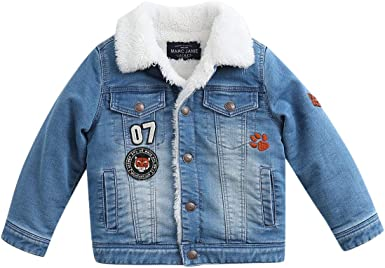 marc janie Little Boys Winter Thick Hooded Jacket