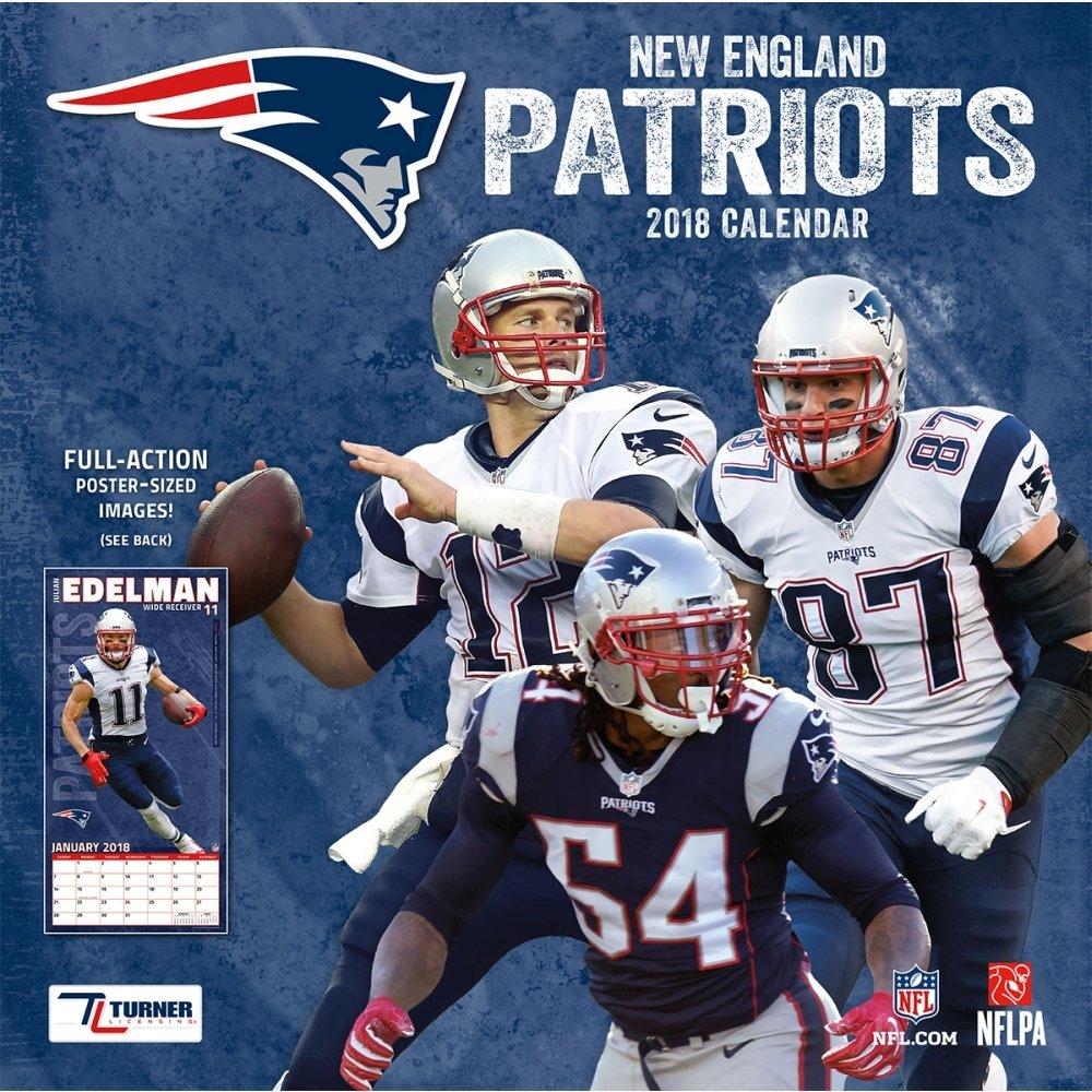 Amazon.: NFL New England Patriots 2018 Wall Calendar : Office