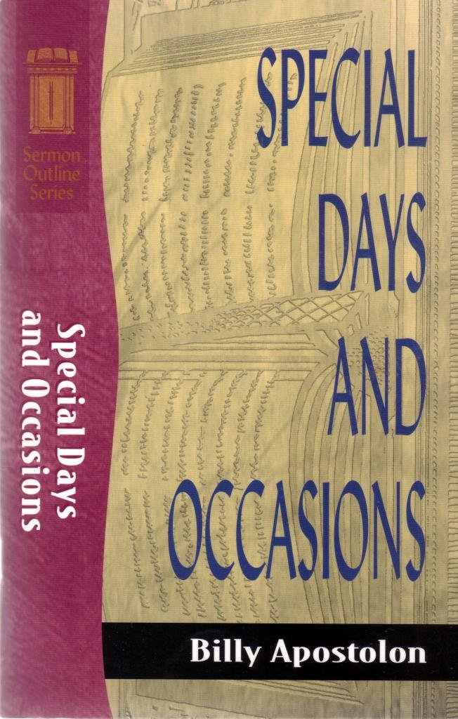 Special Days and Occasions (Sermon Outline Series): Billy