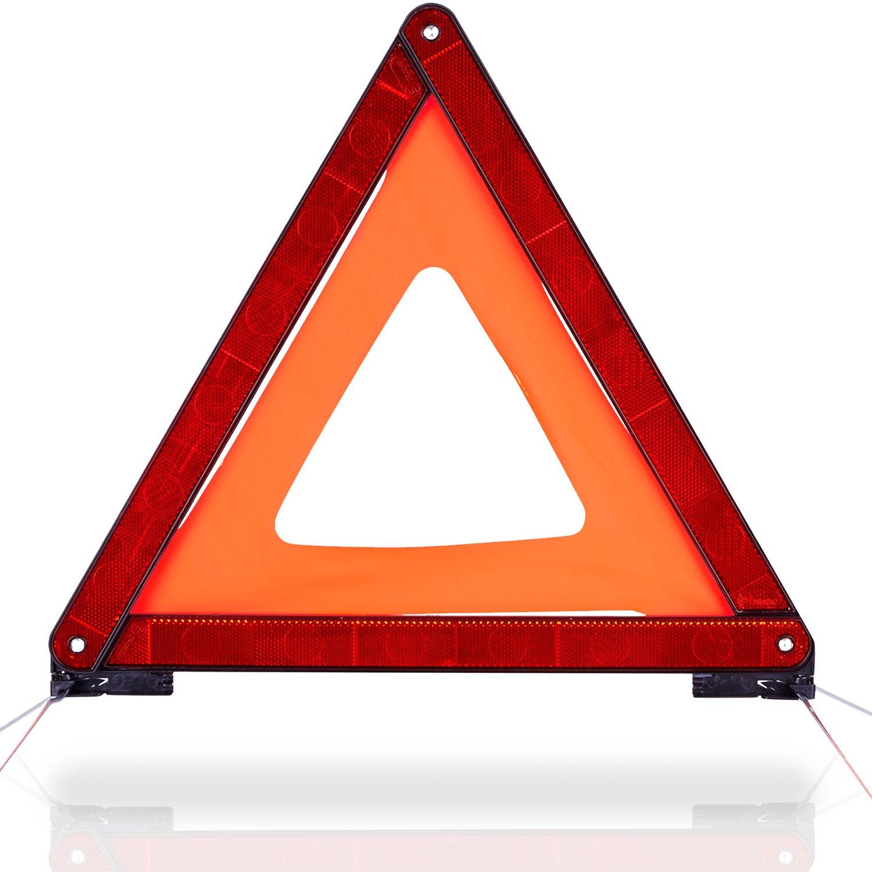 CARTO Triangolo d' emergenza per autoveicoli con custodia in plastica - Messa in sicurezza dell' area dell' incidente o della zona di pericolo / per macchine / veicoli / auto, con 2 anni di garanzia soddisfatti o rimborsati Auerbach&Söhne