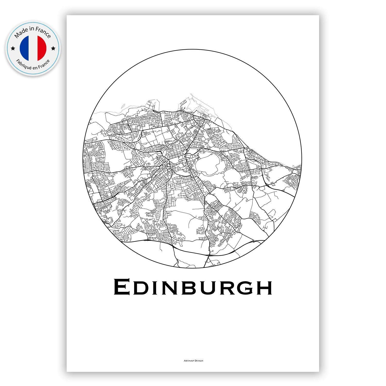 Poster Edinburgh Scotland Minimalist Map Print City Map Art of Edinburgh Poster Wall Art Gift Travel Map