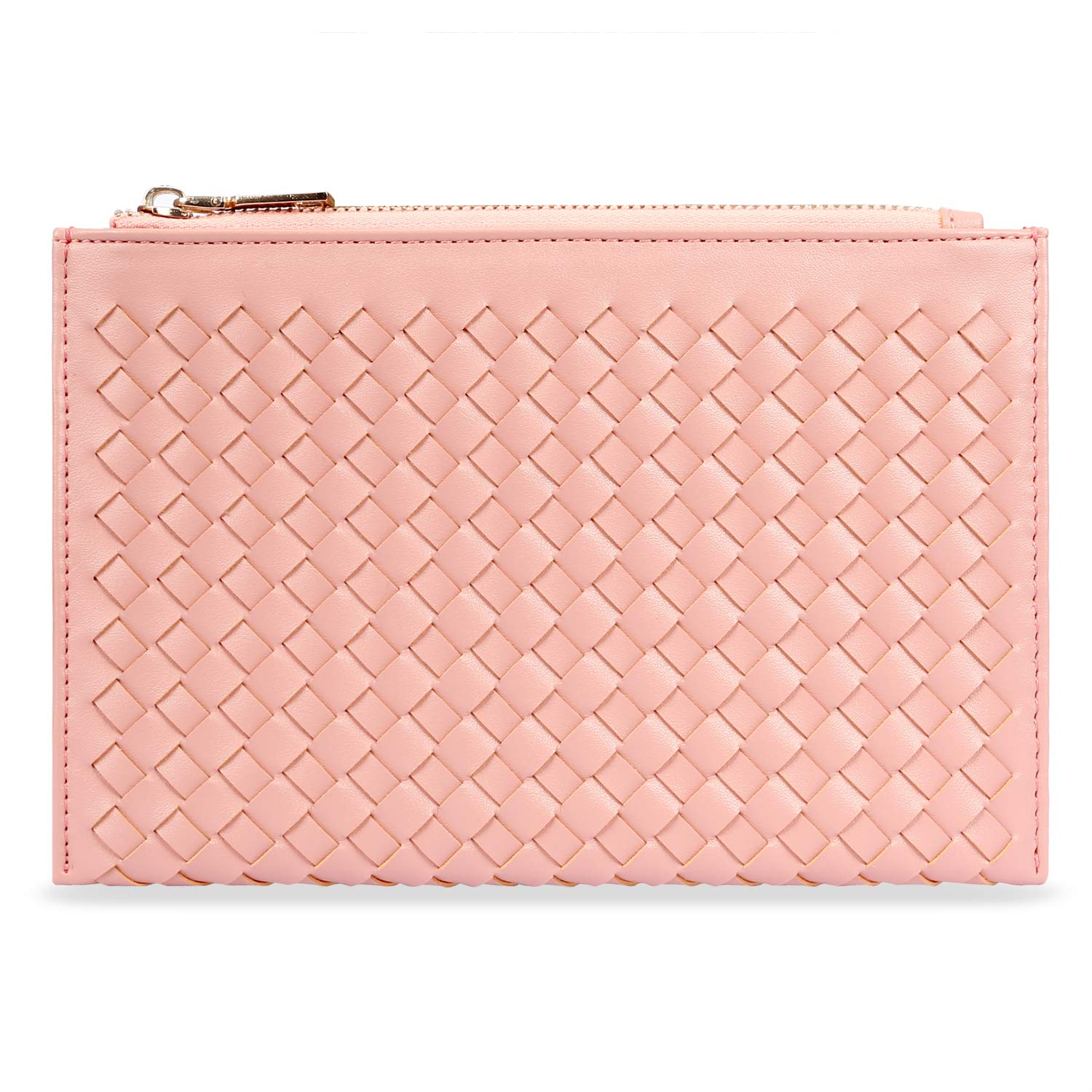 LOKASS Makeup Bag Slim Cosmetic Bag Cute Makeup Bags Hand-held Cosmetic Pouch for Women Cosmetics,Make Up Tools,Travel Rose Gold