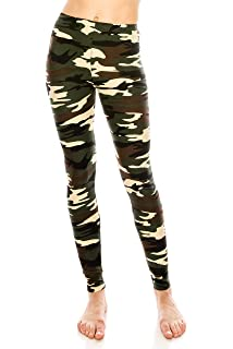 c69ef0e5427ae ALWAYS Women Premium Camo Leggings - Buttery Soft Stretch Military Army  Print