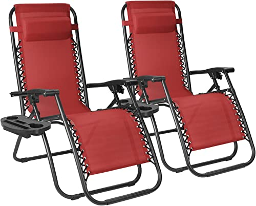 Flamaker Patio Zero Gravity Chair Outdoor Folding Lounge Chair Recliners Adjustable Lawn Lounge Chair