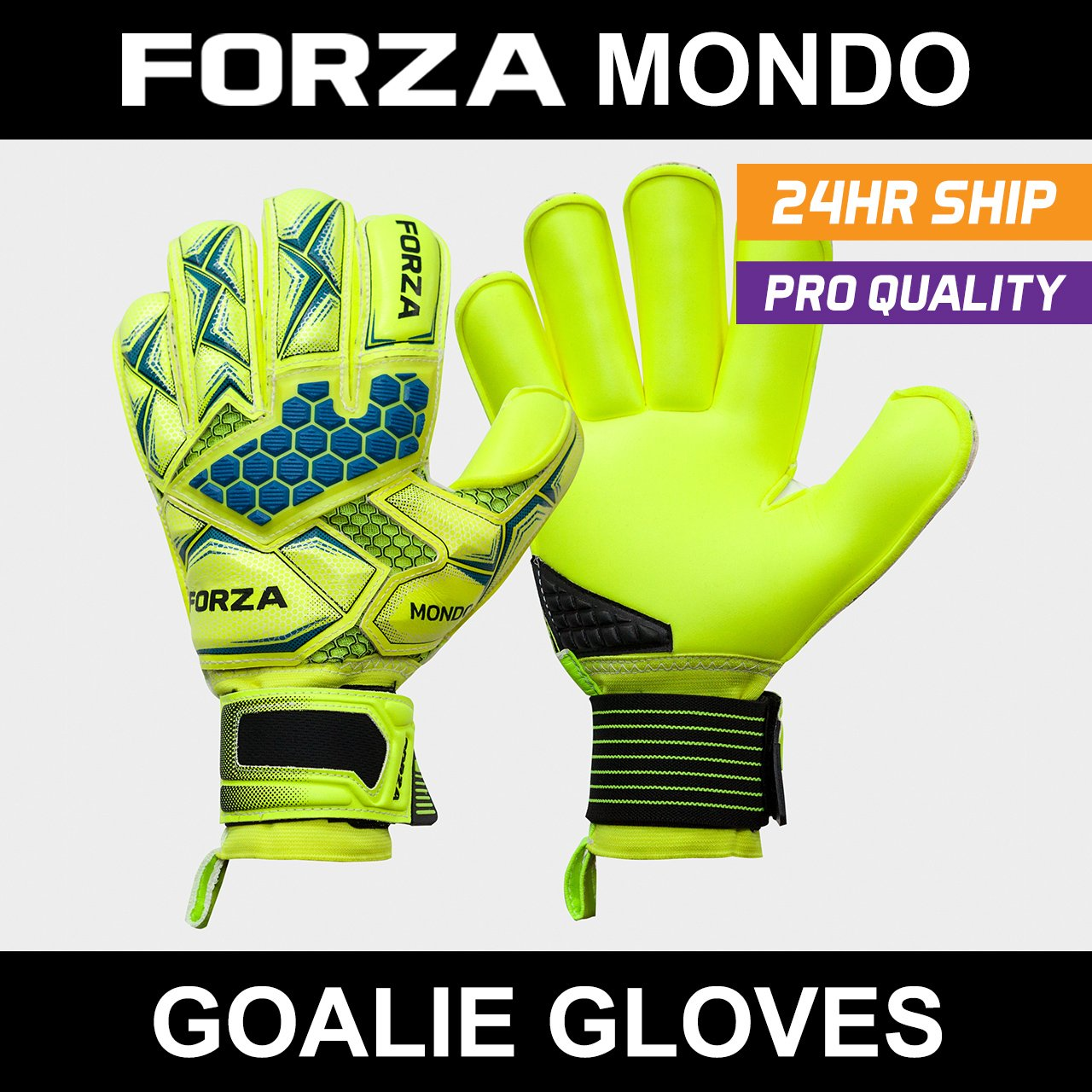 Forza Mondoゴールキーパーグローブ – The Very Bestマーカーfor EliteサッカーゴールキーパーグローブのStoppers – のさまざまなサイズ可能[ Net世界スポーツ] B077T2N8SBSize 9 (Medium Adult)